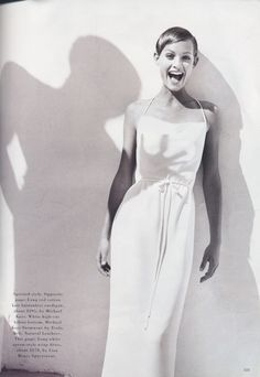 ☆ Amber Valletta | Photography by Patrick Demarchelier | For Harper's Bazaar Magazine US | May 1993 ☆ #Amber_Valletta #Patrick_Demarchelier #Harpers_Bazaar #1993
