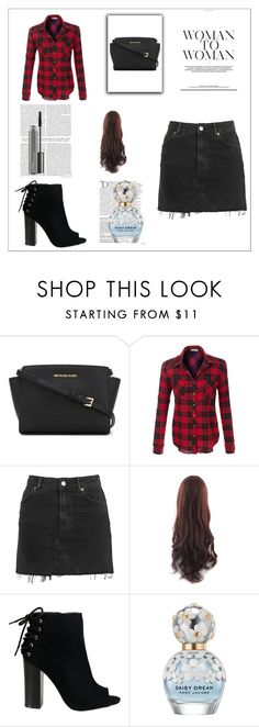 """Only for you"" by aamila12345678 ❤ liked on Polyvore featuring MICHAEL Michael Kors, Topshop, Balmain, Marc Jacobs and MAC Cosmetics"