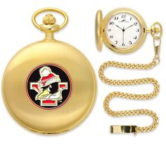 Youngstown State Penguins-Pocket Watch - Gold Watch