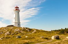 Louisbourg Light. All kinds of beautiful lighthouses like this in Nova Scotia.