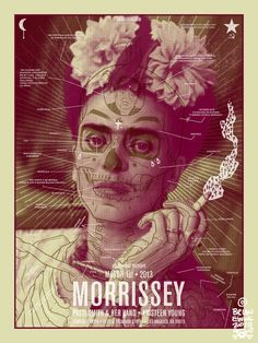 Morrissey & Patti Smith Poster by Brian Ewing @RockPosterFrame