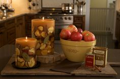 Rosy Rings Spicy Apple Home Fragrance Collection.  My favorite candle of all time!
