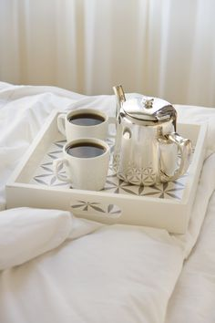 coffee in a big, fluffy bed. One of my favorite day dreams