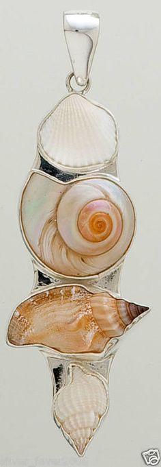 Silver Pendant Seashell Sea Shell 4 CHARLES ALBERT Hand Crafted New Fast Ship ! | eBay