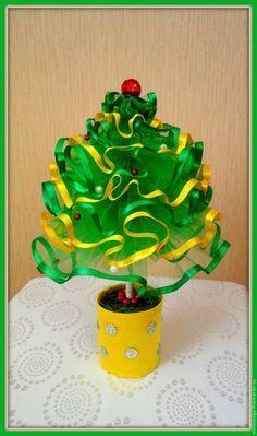 Новогодняя елочка из фатина своими руками - Ярмарка Мастеров - ручная работа, handmade