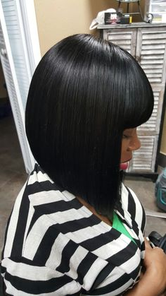 Chinese bang quick weave bob