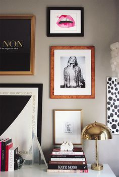 {decor inspiration | two lovely things : bedside tables & gallery walls} by {this is glamorous}, via Flickr