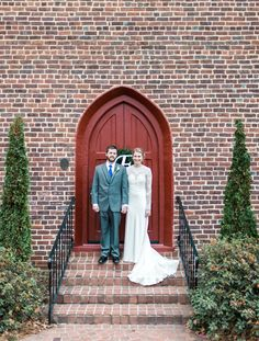 St. Mark's Episcopal Church, Huntersville, NC Love this photo outside of the church door from the Fox/Blackwelder Wedding!  Photo Credit: Emma Loo Photography (emmaloophotography.com)