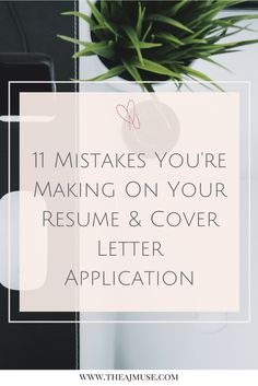 11 mistakes youre making on your resume and cover letter application career - Covering Letter For Resume