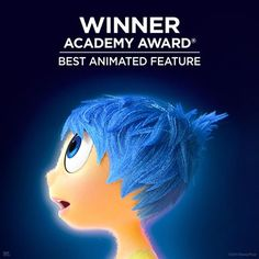 Pure joy! Inside Out wins the Oscar for Best Animated Feature! Congrats to all the minds behind the film.