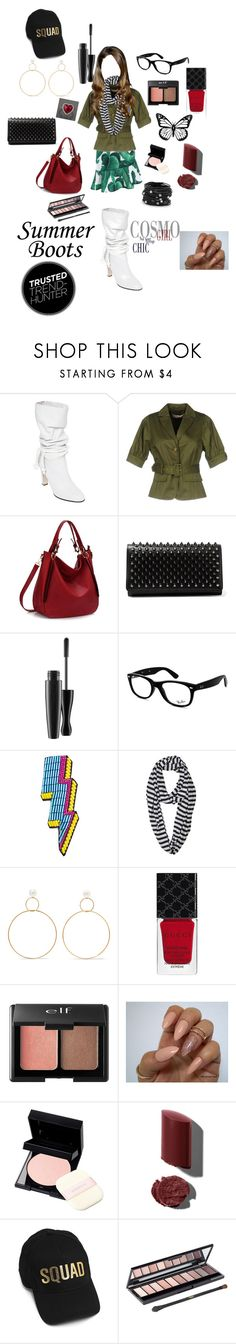 """""""Summer Boots"""" by sarahluvv ❤ liked on Polyvore featuring Philosophy di Lorenzo Serafini, RED Valentino, Christian Louboutin, MAC Cosmetics, Ray-Ban, Happy Embellishments, Le Nom, Natasha Schweitzer, Gucci and Charlotte Russe"""