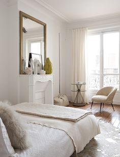 Émilie Bonaventure French interiors Parisian apartment, see more https://alphabetlifestyle.com/2017/06/21/timeless-home-styling-french-interiors/