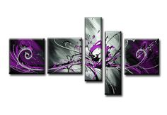 """Модульная картина из 5 частей """"Фиолетовые мотивы"""""""