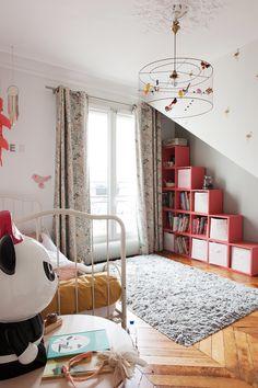 Chambre d'enfant fraîche Appartement Duplex Paris Nayla Voillemot et Romain