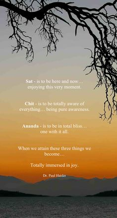Sat-Chit-Ananda - Read More - Dr. Paul Haider