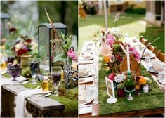 moss wedding theme and ideas