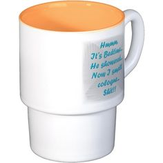 I know what HE expects!! Stackable Mug Set (4 mugs
