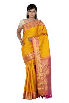 Kanjivaram Silk Sari @ Rs.9,750.00   #Sarees #Sari #WomensFashion #Fashiontra