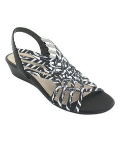 Love this Black & White Refresh Wedge by impo on #zulily! #zulilyfinds