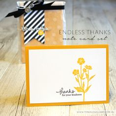 By Teneale Williams   Stampin' Up! Artisan Blog Hop   Endless Thanks card set with Wild about Flowers