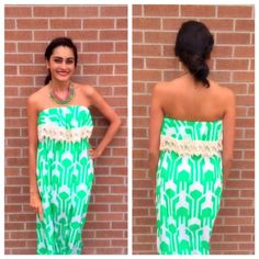Come in to Vivid and check out our new Spring Items. We love this green and white maxi! If you are interested let me know we can always ship to you! White Maxi, Strapless Dress, Ship, Spring, Check, Green, Dresses, Fashion, Strapless Gown