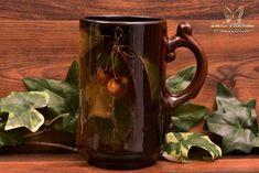 Roseville Pottery 1900-07 Rozane Royal Cherries Mug #7 Artist Signed Miers - The Kings Fortune Art Nouveau, Art Deco, Roseville Pottery, Artist Signatures, Cherries, Pottery Art, Ceramic Art, American Art, Vintage Antiques