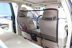 Pet Dog Cat Original Safety Backseat Net Keep Dogs Cats and Pet Hair Out of Front Seat Car Barrier. Completely adjustable,Our Pet Barrier keeps your dog at the back seat during the ride, much safer for you and your dog.It's also fits children,cat,rabbit etc. Dog safety barrier for you car,See through mesh netting material,allows air go through to the back seat, and you can look back while the barrier is installed. Secure the bottom corners to the seat belt housings or other fixed points. In…