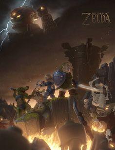 LEGO: The Legend of Zelda.by Ragaru. #Zelda #Nintendo