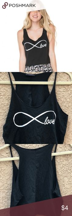 Brandy Melville Love shirt Brandy Melville; one size; Excellent Condition Brandy Melville Tops Crop Tops
