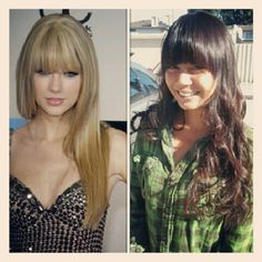 Taylor Swift inspired bangs.
