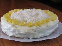 Tracy's Living Cookbook: Pineapple-Coconut Layer Cake