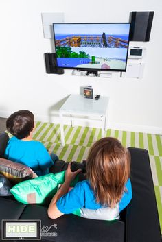 The kids love their game consoles, but who loves having them take up a ton of space or hunting around for that lost controller? Make it easy for kids to keep their consoles and controllers organized. Wall mount them with HIDEit Mounts in a matter of minut Techno, New Room, Computer, Game Room, Kids Bedroom, Home Projects, Playroom, Organization, Organizing