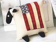 Celebrate your patriotism and decorate for the July 4th holiday by creating this charming Patriotic Sheep pillow.