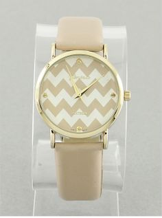 Chevron Print Watch from P.S. I Love You More Boutique