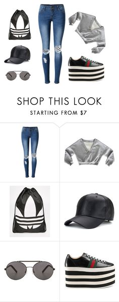 casual by tekla-kowalczyk on Polyvore featuring moda, WithChic, Gucci, adidas and Seafolly