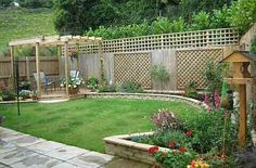 Another view of privacy fence + plantings. (pic only)