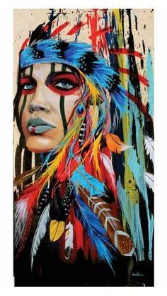 Native American Red Indian Makeup Feathers Colour Inspiration