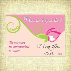 Valentine Card / How Do I Love Thee / Bee Mine by AllisStudio, $12.00