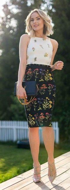 #spring #trends #fashionistas #outfitideas |Sleeveless Floral Midi Dress |Caroline Berg Eriksen