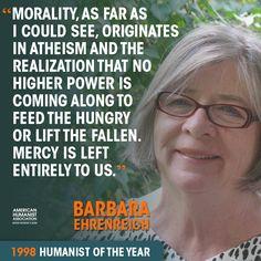 "Barbara Ehrenreich, 1998 American Humanist Association ""Humanist of the Year"""
