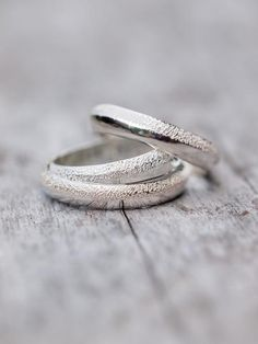 Wabi Sabi // Organic Wedding Band for Him in Silver