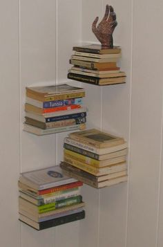 Invisible Book Shelf by Instructables http://www.instructables.com/id/Invisible-Book-Shelf/?ALLSTEPS
