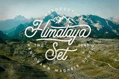 Himalaya Set Type by maghrib on @creativemarket