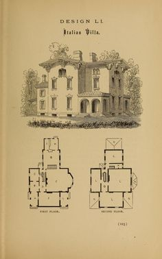 Hobbs's architecture: containing designs and ground plans for villas, cottages and other edifices, both suburban and rural, adapted to the United States. With rules for criticism, and introduction Vintage Drawing, Hobbs, Color Card, Victorian Homes, Philadelphia, United States, How To Plan, Villas, Cottages