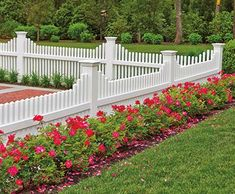 Since Walpole Woodworkers wood fences have been the pride of homeowners. View our selection of vinyl fences, pergolas, arbors, gates & more. Picket Fence Garden, White Picket Fence, Farm Fence, White Fence, Backyard Fences, Garden Fencing, Front Yard Landscaping, Front Yard Fence Ideas, Diy Fence