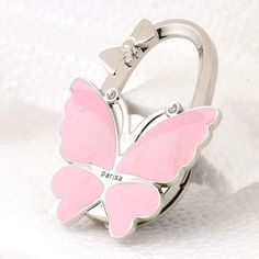 Clever Ladies Butterfly Pattern Folding Handbag Purse Hanger Hook For Table Be Friendly In Use Home Improvement