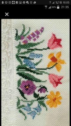 This Pin was discovered by ire Small Cross Stitch, Beaded Cross Stitch, Cross Stitch Rose, Cross Stitch Flowers, Cross Stitch Charts, Cross Stitch Designs, Cross Stitch Patterns, Diy Crafts Hacks, Diy And Crafts