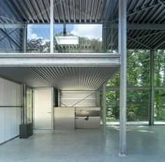 Atelier Wickenburgh - steel - glass - transparency - architecture - Arconiko Container Architecture, Warehouse, Workshop, Houses, Steel, Glass, Outdoor Decor, Home Decor, Offices