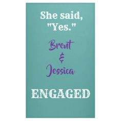 #CUSTOM engagement banner - #GroomGifts #Groom #Gifts Groom Gifts #Wedding #Groomideas Customized Gifts, Personalized Gifts, Engagement Banner, Diy Banner, Outdoor Banners, Word Out, Bridal Gifts, Office Gifts, Create Yourself