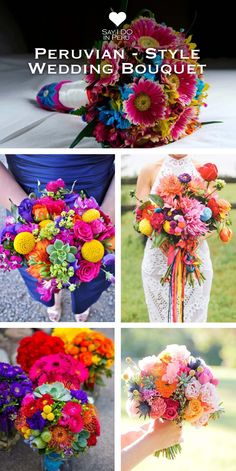 Peru is famous for brilliant and warm colors, as well as for great and joyful celebrations. If you decide to pick the traditional Peruvian theme don't step back and dare to choose Peruvian flowers for your wedding bouquet, such as Peruvian astromelias. These flowers are very colorful and they will add a vibrant touch to your wedding dress.